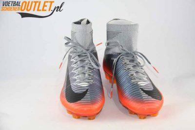 Nike Mercurial Superfly grijs oranje voorkant (852511-001)