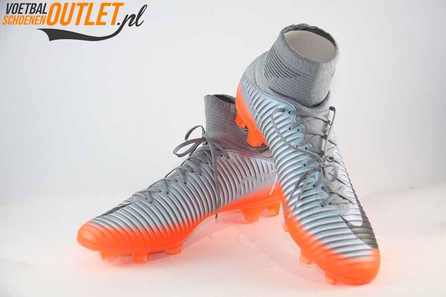 Nike Mercurial Veloce grijs oranje voor en zijkant (852518