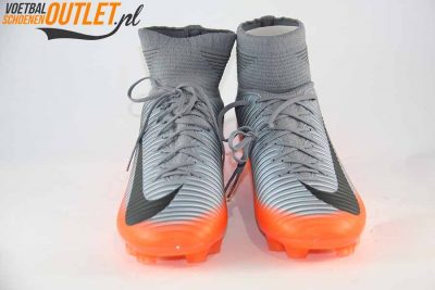 Nike Mercurial Veloce grijs oranje voorkant (852518-001)