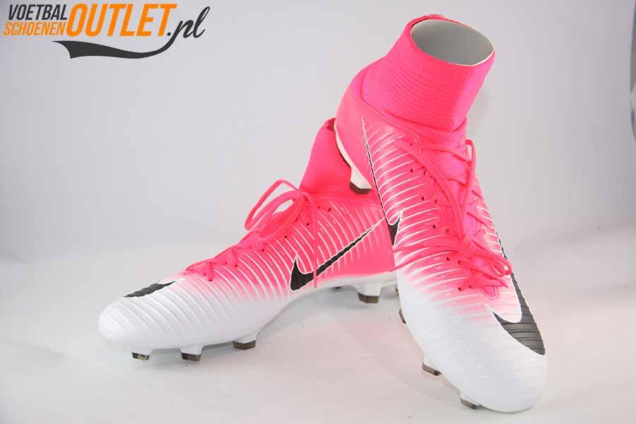 Nike Mercurial Veloce roze wit met sok | Voetbalschoenenoutlet