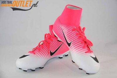 Nike Mercurial Victory roze wit kids voor- en zijkant (903600-801)