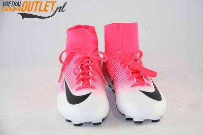 Nike Mercurial Victory roze wit kids voorkant (903600-801)
