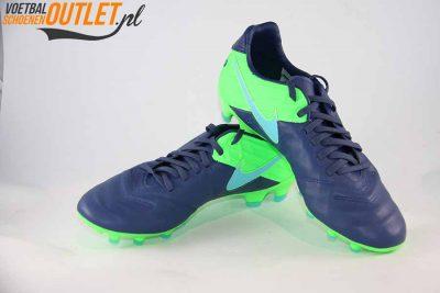 Nike Tiempo Legacy blauw groen voor- en zijkant (819218-443)