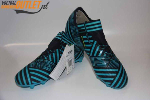 Adidas Nemeziz 17.2 blauw zwart voor- en zijkant (S80595)