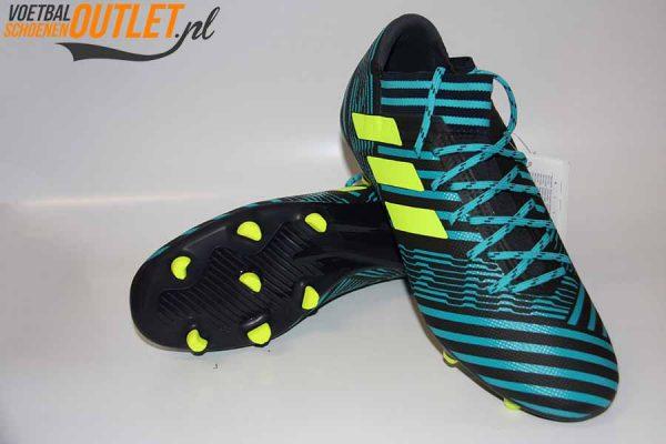 Adidas Nemeziz 17.3 blauw zwart voor- en onderkant (S80601)