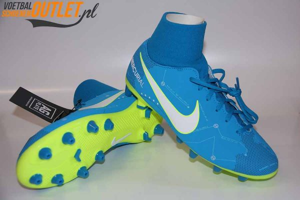 Nike Mercurial Victory Neymar blauw met sok voor- en onderkant (921503-400)