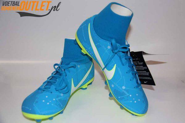 Nike Mercurial Victory Neymar blauw met sok voor- en zijkant (921503-400)