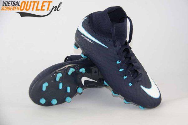 Nike Hypervenom Phantom blauw met sok voor- en onderkant (860643-414)