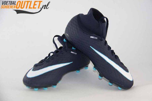 Nike Hypervenom Phantom blauw met sok voor- en zijkant (860643-414)