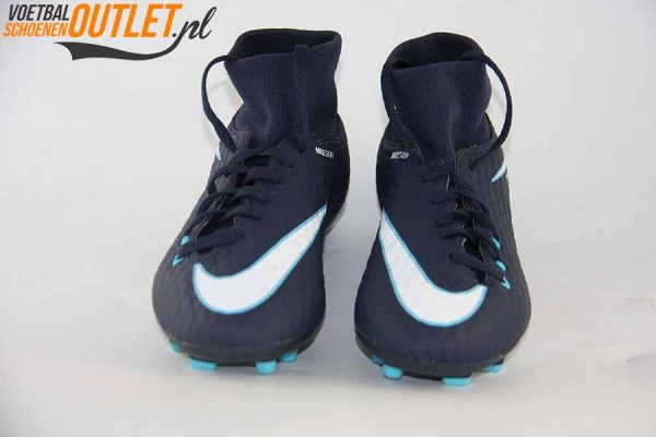 Nike Hypervenom Phantom blauw met sok voorkant (860643-414)