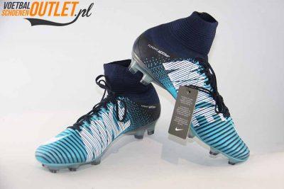 Nike Mercurial Superfly blauw met sok