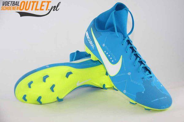 Nike Mercurial Victory blauw NJR voor- en onderkant