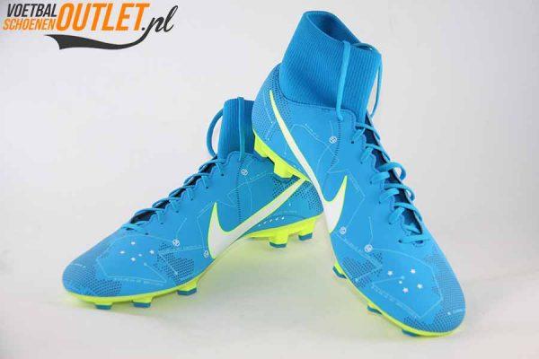 Nike Mercurial Victory blauw NJR voor- en zijkant