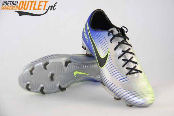 Nike Mercurial Victory zilver blauw NJR voor- en onderkant (921505-407)