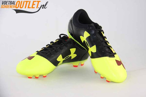 Under Armour Spotlight geel voor- en zijkant (1272308-731)