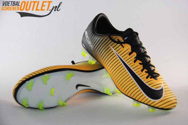Nike Mercurial Veloce oranje zwart voor- en onderkant (847756-801)