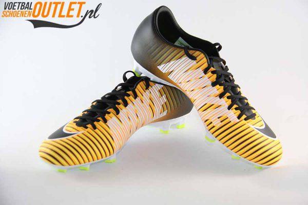 Nike Mercurial Victory oranje zwart, voor- en zijkant (831964-801)