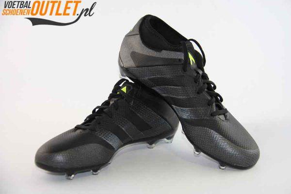 Adidas Ace 16.3 zwart kids voor- en zijkant (AQ3445)