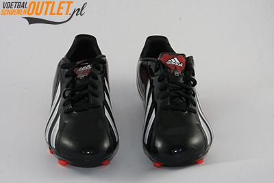 Adidas Adizero F10 zwart rood voorkant (Q33869)