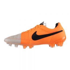 Nike Tiempo Legend grijs oranje 631518-008-detail
